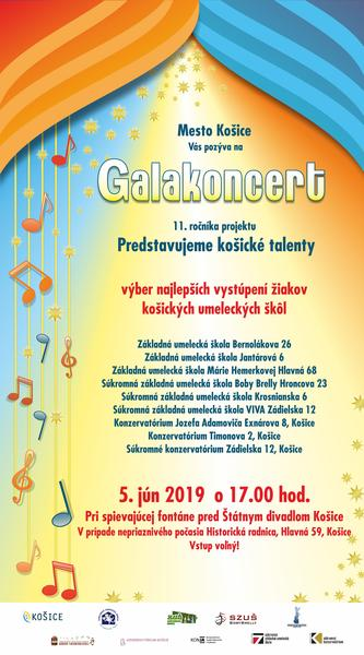 Galakoncert 11. ročníka projektu Predstavujeme košické talenty - plagát