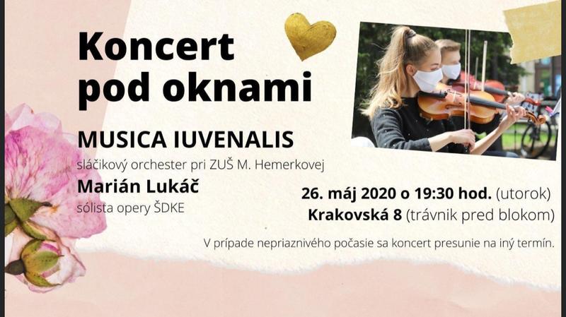 Koncert pod oknami Košice