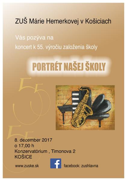 """Plagát koncetu """"portrét našej školy"""" - 8.12."""