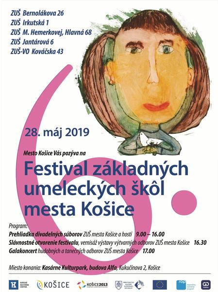 6. ročník Festivalu základných umeleckých škôl mesta Košice - Plagát