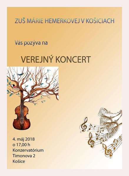 Verejný žiacky koncert 04.05.2018