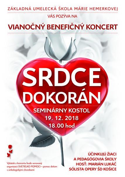 Vianočný benefičný koncert SRDCE DOKORÁN plagát