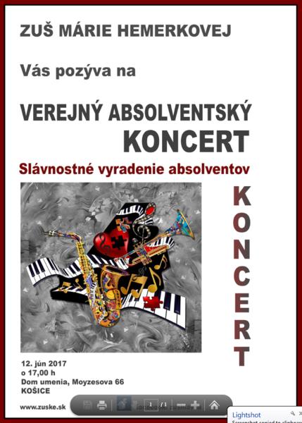 Plagát VAK 12. júna 2017