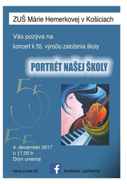 """Plagát koncetu """"portrét našej školy"""" - 4.12."""
