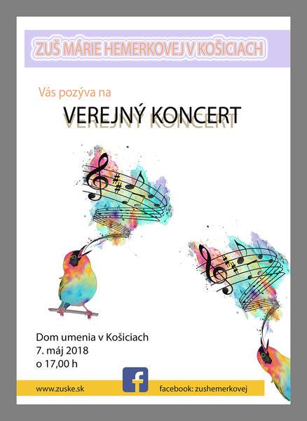Verejný žiacky koncert 07.05.2018