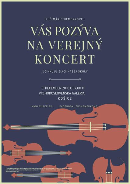 Verejný žiacky koncert 3.12. Košice